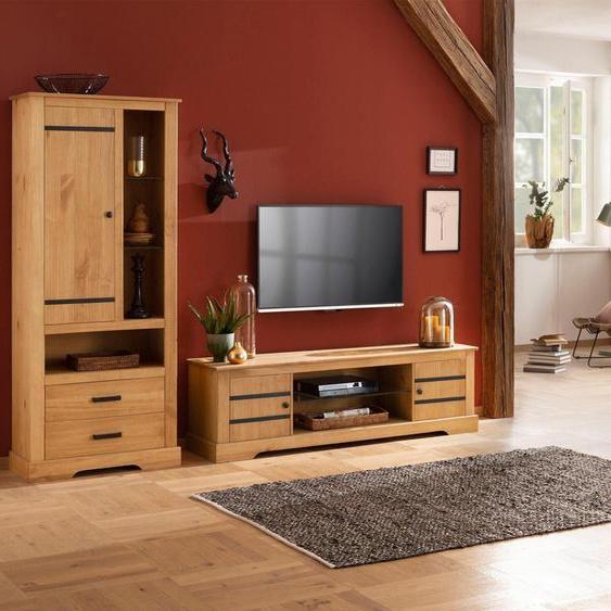 Home affaire Stauraumschrank, Landhaus-Stil, braun »Loki«