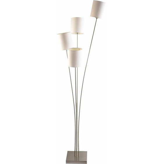 Home affaire Stehlampe »Rivera«, Gestell der Stehleuchte in gold- oder nickelfarben mit Stoffschirmen in drei Farbvarianten