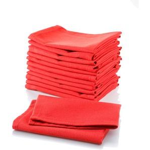 Stoffserviette »Uni-Rot«, rot, 33x33cm, Öko-Tex-Zertifikat, , ,
