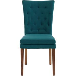 Home affaire Stuhl Colorado, Beine in eiche oder nussbaum. Im 2er, 4er 6er-Set B/H/T: 46 cm x 94,5 59 cm, 4 St., Luxus-Microfaser, Nußbaum grün 4-Fuß-Stühle Stühle Sitzbänke