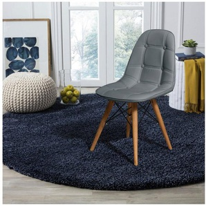 Home affaire Stuhl »Scandi« (Set, 2 Stück), mit einem schönen massivem Beingestell und einem pflegeleichtem Kunstleder Bezug, Sitzhöhe 46 cm