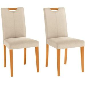 Home affaire Stuhl »Stuhlparade« (Set, 2 Stück), in zwei unterschiedlichen Bezugsqualitäten, in verschiedenen Farbvarianten, Sitzhöhe 46 cm