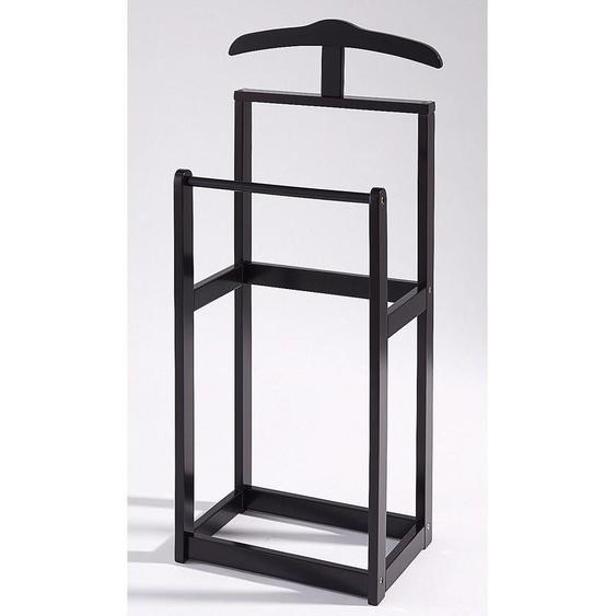 stummer Diener »Trend«, 45x107x30 cm (BxHxT), Home affaire, schwarz, Material Massivholz,  lackiert