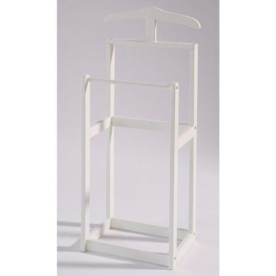 stummer Diener »Trend«, 45x107x30 cm (BxHxT), Home affaire, weiß, Material Massivholz,  lackiert