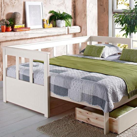 Tagesbett »Aira«, FSC®-zertifiziert, Home affaire, weiß, Material Holz
