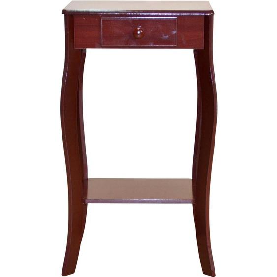 Home affaire Telefontisch Tischplatte: MDF, Gestell: MDF braun Wandtische Konsolentische Tische Tisch