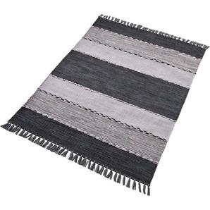 Home Affaire Teppich  »Eden«, 160x230 cm, 5 mm Gesamthöhe, grau