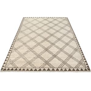 Home affaire Teppich Erik, rechteckig, 10 mm Höhe, mit Fransen, Wohnzimmer B/L: 280 cm x 380 cm, 1 St. braun Esszimmerteppiche Teppiche nach Räumen