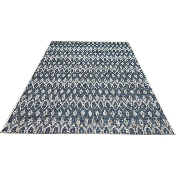 Home affaire Teppich Roana, rechteckig, 4 mm Höhe, In- und Outdoor geeignet, Wohnzimmer B/L: 230 cm x 330 cm, 1 St. blau Wohnzimmerteppiche Teppiche nach Räumen