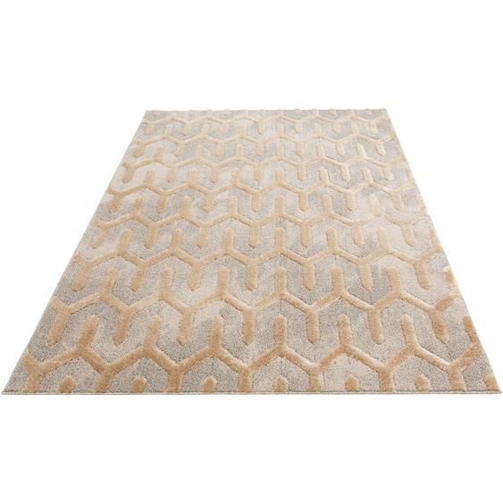 Home affaire Teppich Ulme, rechteckig, 20 mm Höhe, orientalischen Muster, Wohnzimmer B/L: 280 cm x 390 cm, 1 St. braun Schlafzimmerteppiche Teppiche nach Räumen