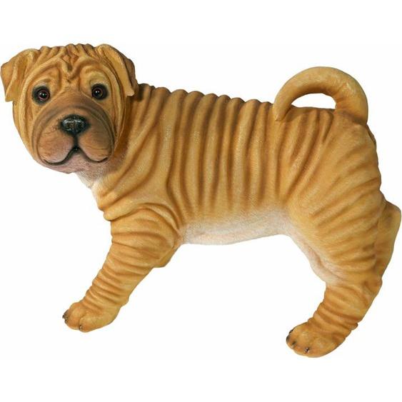 Home affaire Tierfigur Faltenhund, Maße ca. H: 35cm, B: 44cm Einheitsgröße braun Gartenfiguren Gartendekoration Gartenmöbel Gartendeko Dekofiguren