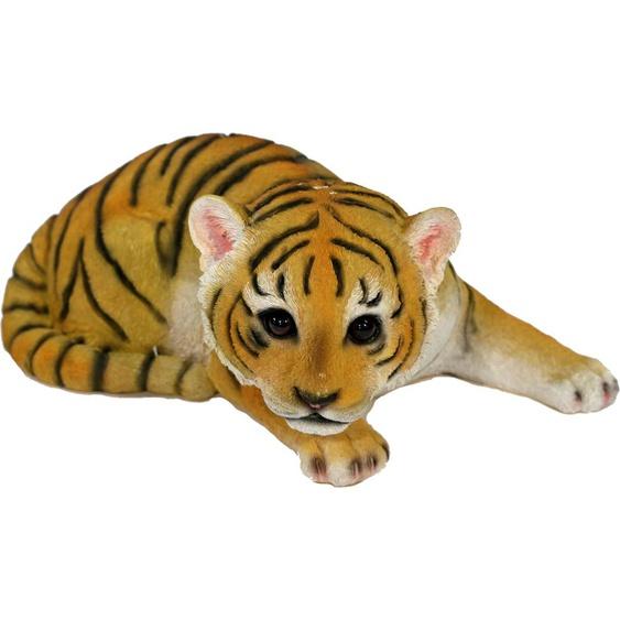 Home affaire Tierfigur Tiger liegend Einheitsgröße bunt Gartenfiguren Gartendekoration Gartenmöbel Gartendeko Dekofiguren