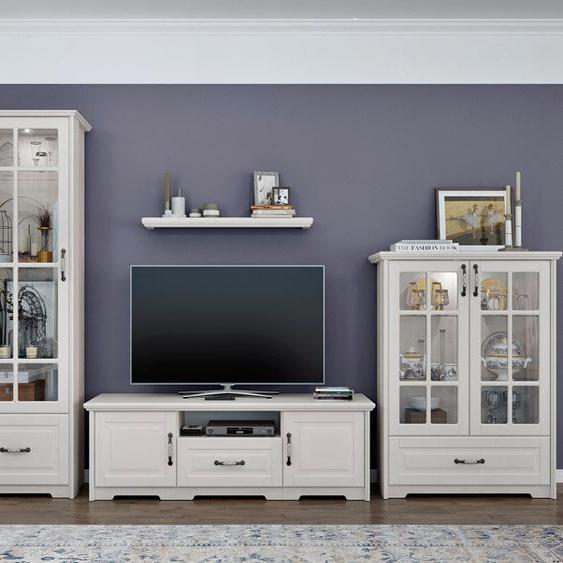 TV-Board »Evergreen«, 158.7x50.4x54.7 cm (BxHxT), FSC®-zertifiziert, Home affaire, Material Metall, Holzwerkstoff, MDF, lackiert, Soft-Close-Funktion