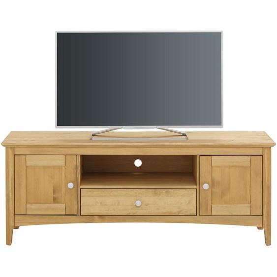 TV-Board »Melvin«, 145x55x40 cm (BxHxT), FSC®-zertifiziert, Home affaire, beige, Material Massivholz, mit Schubkästen