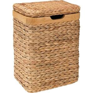 Home affaire Wäschebehälter mit natur Holzrahmen