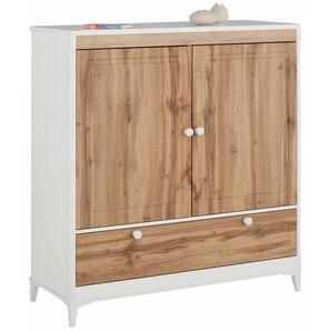 Home affaire Wäscheschrank »Kjell« mit 2 Schubladen und 2 Türen, Breite 119 cm, Höhe 130 cm