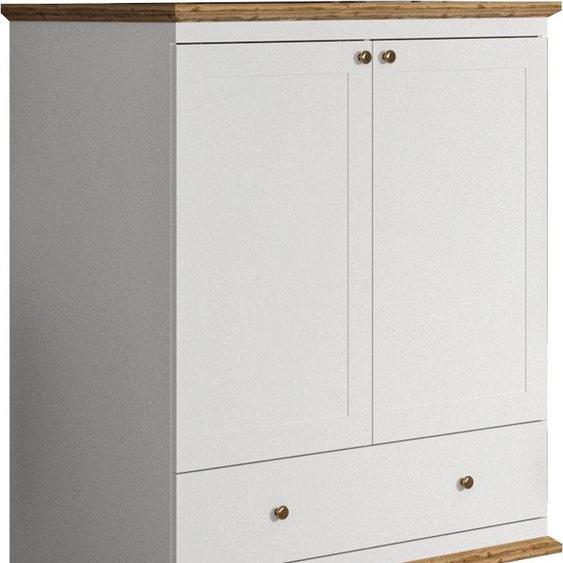 Wäscheschrank »Banburry«, Landhaus-Stil, Home affaire, weiß, Material Holzwerkstoff