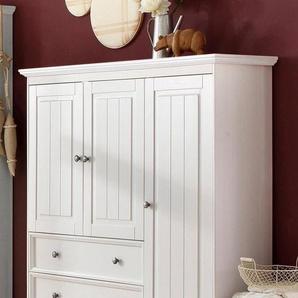 Home affaire Wäscheschrank »Melissa«, aus massiver Kiefer, mit geschwungener Sockelleiste , Breite 138 cm