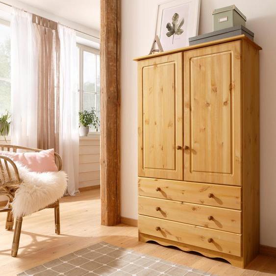 Home affaire Wäscheschrank Minik, aus schönem massivem Kiefernholz, in unterschiedlichen Farbvarianten 95 x 140 35 (B H T) cm, 2-türig beige Drehtürenschränke Kleiderschränke Schränke
