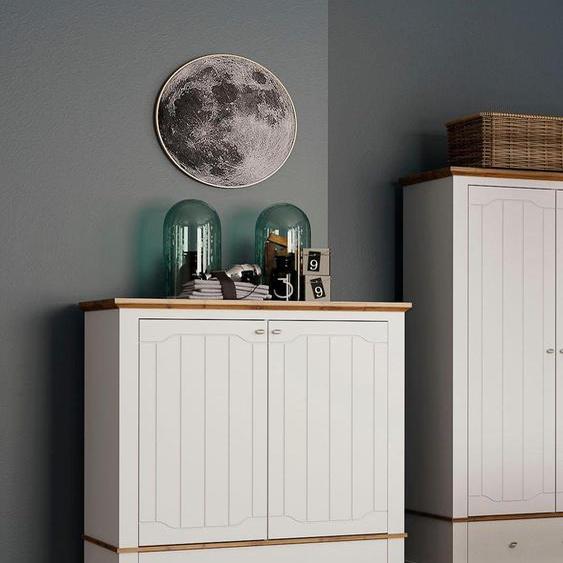 Wäscheschrank »Teverton«, 114.5x129.5x63.5 cm (BxHxT), Landhaus-Stil, Home affaire, Material Holzwerkstoff, mit Schubkästen
