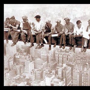 Home Affaire Wandbild »Eating above Manhattan«, grau