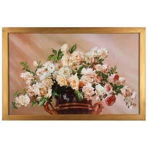 Home affaire Wandbild »White Roses«, 90/60 cm