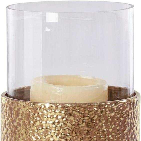 Home affaire Windlicht H: 81 cm goldfarben Kerzenhalter Kerzen Laternen Wohnaccessoires