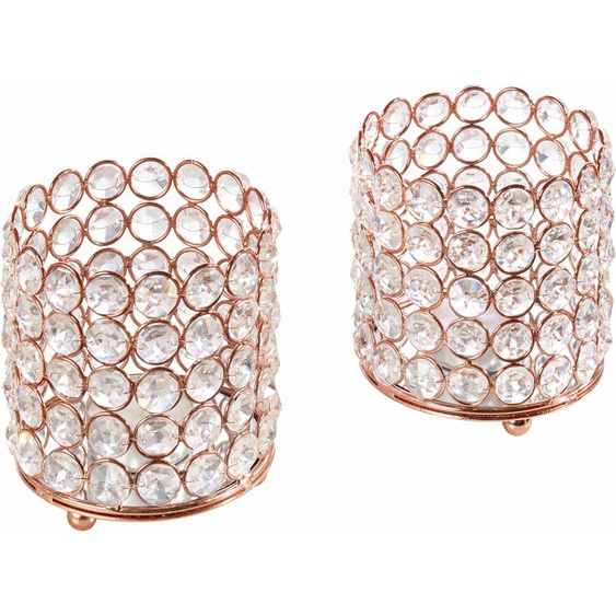 Home affaire Windlicht Kristall 9x9x11 cm braun Kerzenhalter Kerzen Laternen Wohnaccessoires