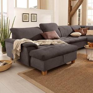 Home affaire Wohnlandschaft »Lyla«, wahlweise mit Rückenfunktion und zusätzlich mit Bett + Bettkasten