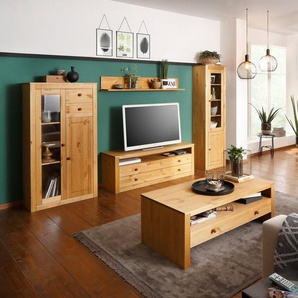 Home affaire Wohnwand »Agave«, (Set, 4-tlg), aus massiver Kiefer