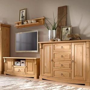 Home affaire Wohnwand Anna, (Set, 4 St.) Einheitsgröße beige Wohnwände