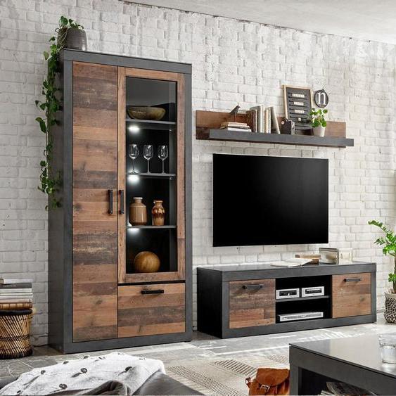 Home affaire Wohnwand »BROOKLYN«, in dekorativer Rahmenoptik