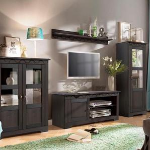 Home affaire Wohnwand Laura, (Set, 3 St.), mit 1 Vitrine, TV-Lowboard und Highboard Einheitsgröße braun Wohnwände