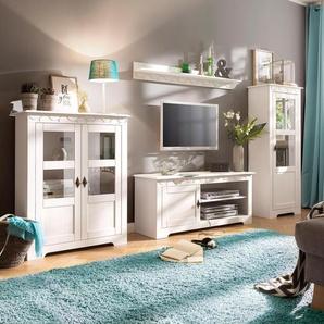Home affaire Wohnwand Laura, (Set, 3 St.), mit 1 Vitrine, TV-Lowboard und Highboard Einheitsgröße weiß Wohnwände