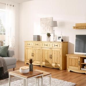 Home affaire Wohnwand Trinidad, (Set, 3 St.), Set aus 1 Wandboard, Sideboard, Lowboard Einheitsgröße beige Wohnwände