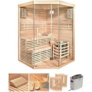 HOME DELUXE Sauna »Skyline XL«, 150x150x210 cm, 6 kW Ofen mit int. Steuerung