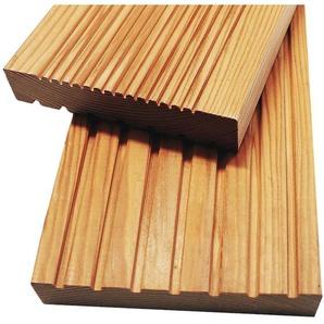 Home Deluxe - Terrassendielen aus Holz, sibirische Lärche I Terrassenboden, Holzdiele I 40 m²