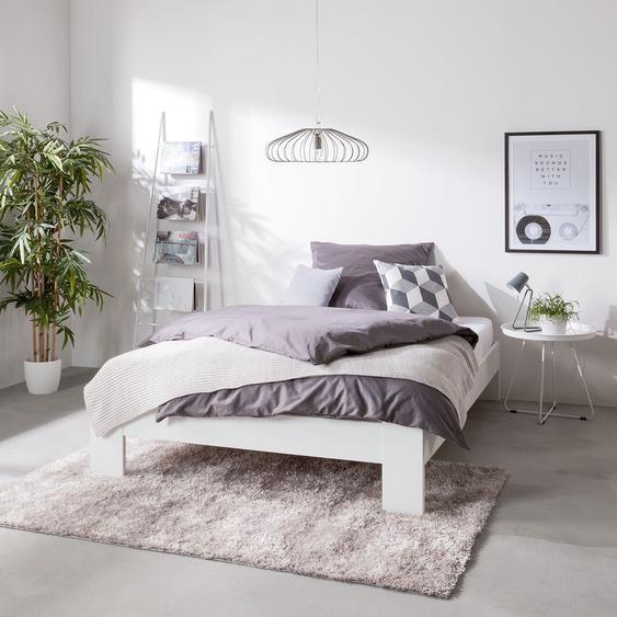 Home Design Bett Rachel 120x200 cm Spanplatte Alpinweiß Modern