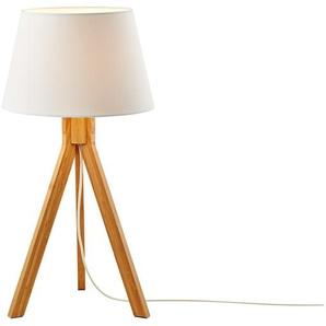 HOME STORY 3-Bein Tischleuchte, 1-flammig - holzfarben - 55 cm   Möbel Kraft