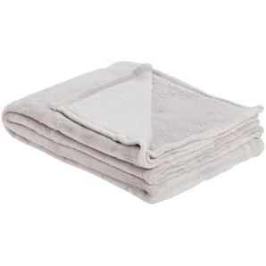 HOME STORY Coralfleecedecke  Emely | grau | Polyester, 100% Polyester | 130 cm | Möbel Kraft