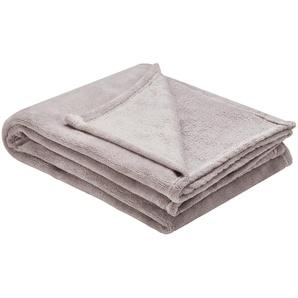 HOME STORY Coralfleecedecke  Emely | grau | Polyester, 100% Polyester | 150 cm | Möbel Kraft