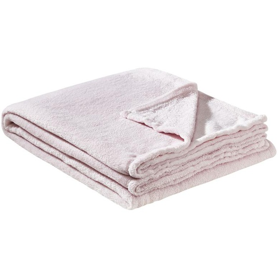 HOME STORY Coralfleecedecke  Emely ¦ rosa/pink ¦ 100% Polyester, Polyester