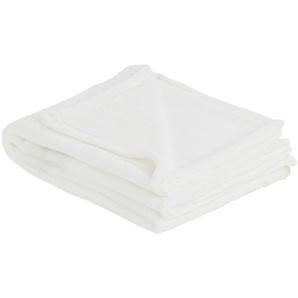 HOME STORY Coralfleecedecke  Emely   weiß   Polyester, 100% Polyester   150 cm   Möbel Kraft