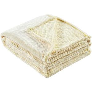 LAVIDA Coralfleecedecke  Mini Mi | gelb | 100% Polyester | 150 cm | Möbel Kraft