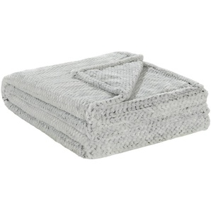 HOME STORY Coralfleecedecke  Mini Mi   schwarz   100% Polyester   150 cm  