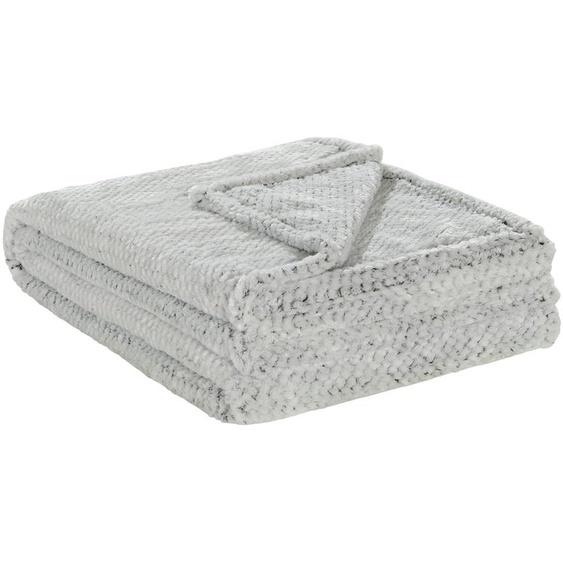 HOME STORY Coralfleecedecke  Mini Mi | schwarz | 100% Polyester | 150 cm |