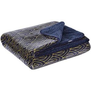 HOME STORY Flanell Fleecedecke  Luxury ¦ blau ¦ 100% Polyester ¦ Maße (cm): B: 150