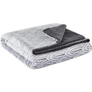 HOME STORY Flanell Fleecedecke  Luxury | grau | 100% Polyester | 150 cm | Möbel Kraft