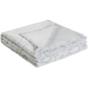 HOME STORY Flauschdecke  Zoey | grau | 100% Polyester | 150 cm | Möbel Kraft