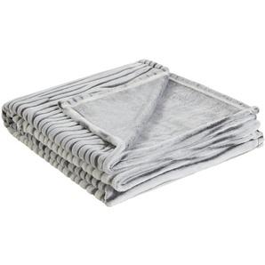 HOME STORY Flauschdecke  Zoey | weiß | 100% Polyester | 150 cm | Möbel Kraft